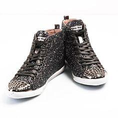 miu miu fake glitter sneakers