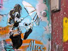 Alice pasquini, street artist, Roma