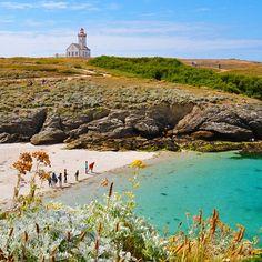 Plage + phare des Poulains + ciel bleu = WE Belle-île-en-Mer