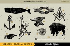 The Ultimate Hipster Labels & Badges by Decade Type Foundry on Creative Market