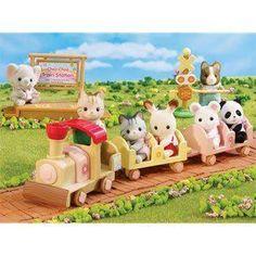 Calico Critters Baby Choo Choo Train Set