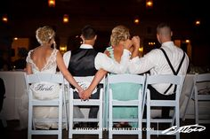 Bride & Groom, Maid of Honor & Best Man. Awesome.   love this!  how adorable