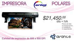 Con la impresora para gran formato OrionJet Polaris obtendrá un secado rápido gracias a su sistema de calentadores estratégicamente ubicados.!