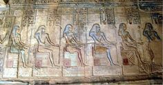 The Ogdoad, also called the Hehu or Infinites, were the celestial rulers of a cosmic age. Considered to have come long before the Egyptian religious system currently recognized, the Ogdoad were