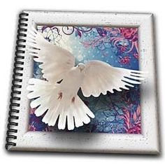 Spiritual awakenings Animals Birds - Beautiful white dove framed art with tapestry gradient pastel background - Drawing Book - Memory Book 12 x 12 inch by 3dRose, http://www.amazon.com/dp/B00DGDIPVY/ref=cm_sw_r_pi_dp_5yFnsb0DN7F6N
