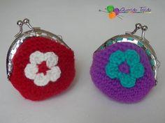 Monedero crochet broche redondo - YouTube