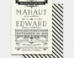 Faire Part de Mariage - MAHAUT