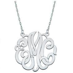 40mm Monogram Necklace - Fakier Jewelers - 1