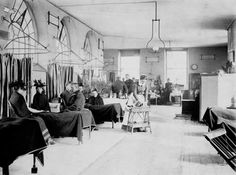 Visiting day on the accident ward at Guy's Hospital, London, 1897 from National Archives
