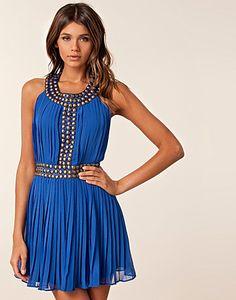 cobalt blue studded dress