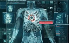 Medical user interfaces in film can be sourced for inpiration when needing some cooler colors,  and a high visual contrast in your work.