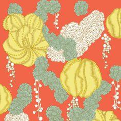 Japanese inspired mandarin wallpaper