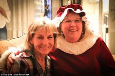 While Rory and Joey and Santa talked, Mrs Claus visited with Joey's mother June (seen left)