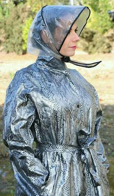 Pvc Raincoat, Plastic Raincoat, Rain Bonnet, Rain Hat, Pvc Coat, Bronze, Fashion Project, Future Fashion, Color Stripes