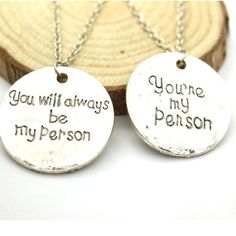 "Grey's Anatomy ""You're My Person"" Necklace"