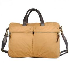 """""""marcus work bag"""" from """"property of..."""" is made out of cotton canvas and fits a 13"""" laptop"""