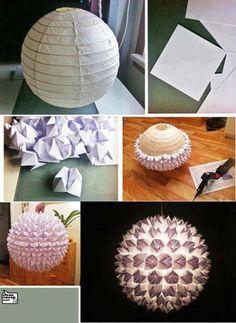 diy beautiful paper lamp