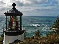 Oregon Coast Lighthouse at Cape Meares - more great scenery shots in the Gallery at http://loveyourrv.com/photo-gallery/