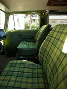Is there anything better than the interior of a sage green VW bus?  Yeah, I didn't think so.