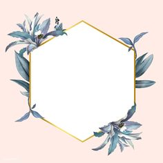 Empty frame with blue leaves design vector Pink Wallpaper, Wallpaper Backgrounds, Iphone Wallpaper, Border Design, Leaf Design, Tableau Design, Empty Frames, Blue Leaves, Floral Border