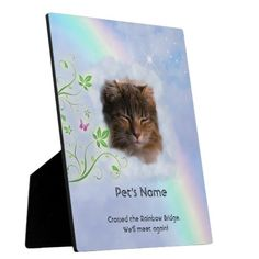 """Please click """"Personalize"""" to insert your pet's photo and name. Add date if you like, or whatever fits (what you see is what you get), or ask me for (free help). Crisp Image, Rainbow Bridge, Pet Names, Pet Gifts, Your Image, Cleaning Wipes, Your Pet, Pets, Free"""