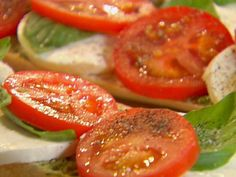 Get Ina Garten's Open-Faced Tomato, Mozzarella and Basil Sandwich Recipe from Food Network