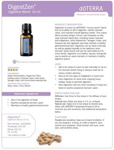 doterra tea tree uses | Here are some ideas from the doTERRA blog on how to use DigestZen ...