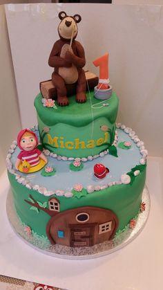 #Masha e l'#orso #cake in #pasta di #zucchero ( #pdz )