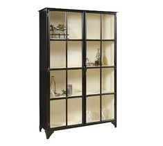 The two door Maura Display is a beautiful example of the elegance of iron This iron cabinet is accented with custom hardware and has a rich black finish with an off white painted interior and stationary shelves Pulaski Furniture, Ikea Furniture, Accent Furniture, Urban Furniture, Metal Furniture, Mirrored Furniture, Furniture Movers, Furniture Plans, Outdoor Furniture