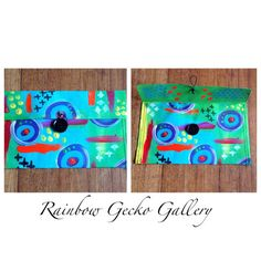 Rainbow Gecko Gallery Wallet by RainbowGeckoGallery on Etsy