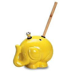 Yellow Elephant Bong  http://www.coolestbongs.com/product/yellow-elephant-bong/  #420 #bongs #cool
