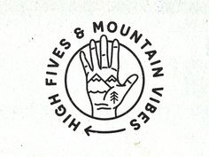 High Fives & Mountain Vibes by Peter Francis Laxalt #Design Popular #Dribbble #shots