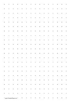 This Printable Dot Paper Has One Dot Per Inch And Is In Portrait