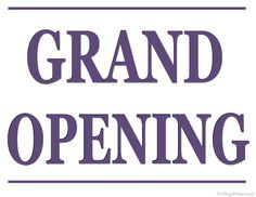 Printable Grand Opening Sign