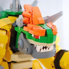 Mecha de Bowser hecho con LEGO