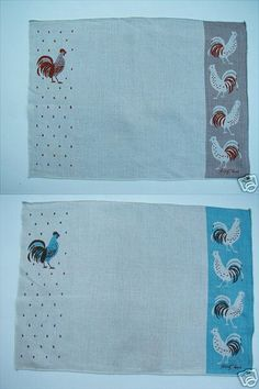 tammis keefe -- rooster placemats