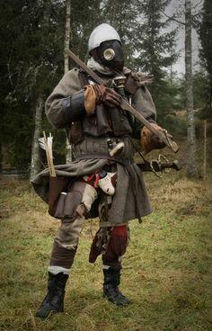 by Krigshjartan on DeviantArt Medieval Warhammer, Medieval Armor, Medieval Fantasy, Fantasy Character Design, Character Art, Larp Armor, Savage Worlds, Leather Armor, Post Apocalypse