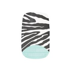 Pretty Little Minx Nail Stickers--I'm not even lying to you. These Pretty Little Minx Nail Stickers really are pretty little Minx nail stickers. Well, actually, they're standard size nail stickers, but all of the rest is completely accurate.  #Manicure #Nails #Fingernails #Zebra #Prom #Wedding #Zazzle