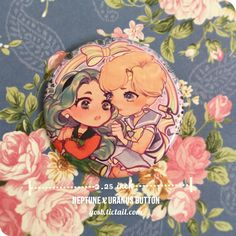"2.25"" OTP Neptune ♡ Uranus Button (Michiru Kaioh & Haruka Tenou) ミ☆ http://yosb.tictail.com ☆彡http://yosb.tumblr.com ★ http://instagram.com/girondist ★ http://twitter.com/bontmercy ★ http://facebook.com/yosusanbin"