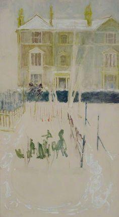 Margaret Thomas – Snow Garden; Oil on board, 90.8x49.5 cm