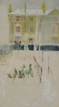 Margaret Thomas – Snow Garden; Oil on board, 90.8x49.5 cm