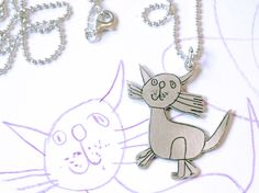 Katzenkette von Kritzelsilber nach Kinderzeichnung #Schmuck #Silberschmuck #Kinderzeichnung #Kinderbild #Kunst #Design #Designschmuck #Kindermalerei #individualisierter #Unikat #Unikatschmuck #Kritzelei #Kinderschmuck #Weihnachtsgeschenk #Geschenk #Weihnachten #Silber #Kettenanhaenger #Silberanhaenger #Kinderkunst #Kette #Familie #Silver #Jewelery #Children #drawing #customized #individual #Family #Present #xmas ##Katze #Kaetzchen #cat