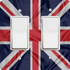 "Rikki KnightTM Great Britain Flag Double Rocker Light Switch Plate Cover by Rikki Knight. $15.99. Glossy Finish. Masonite Hardboard Material. 6""x 6""x 0.18"". Washable. For use on Walls (screws not included). The Great Britain Flag single toggle light switch cover is made of commercial vibrant quality masonite Hardboard that is cut into 5"" Square with 1'8"" thick material. The Beautiful Art Photo Reproduction is printed directly into the switch plate and not decoupaged wh..."