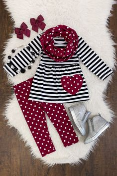 Details about Girls 2 PC Pants Outfit Toddler Baby Kids Clothing Cheetah Capri Boutique Set Girls 3 PC Pants Outfit Toddler Kids Clothing Boutique 3 PC Heart Scarf Set Little Girl Outfits, Little Girl Fashion, Toddler Outfits, Toddler Fashion, Fashion Kids, Little Girls, Baby Clothes Usa, Cheap Baby Clothes, Clothes Shops