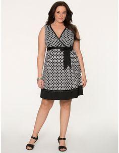 Plus Size Geo Surplice Dress by Lane Bryant   Lane Bryant