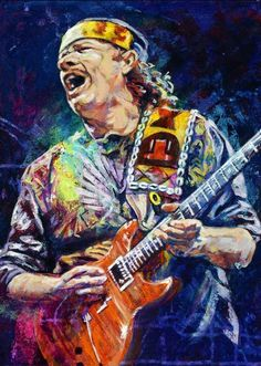 Fine art print featuring legendary Rock guitarist Carlos Santana by artist Robert Hurst Glam Rock, Rock Chic, Arte Jazz, Jazz Art, Music Artwork, Art Music, Music Artists, Rock And Roll, Pop Rock