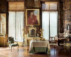 The Veronese Room has stamped polychrome leather wall covering. Isabella Stewart Gardner Museum : Browse
