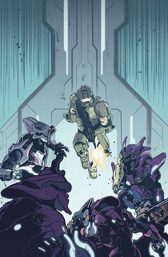 """zakhartong: """"Halo: Collateral Damage 2 CoverDidn't realize issue one comes out next week! Very excited about it, so here's the issue two cover since I never posted it. Elites where so fun to draw, more difficult than I thought. Halo Game, Halo 5, Halo Reach, Character Art, Character Design, Halo Spartan, Halo Armor, Halo Series, Halo Master Chief"""