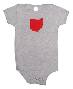 American Apparel Baby Onesies - Ohio State (on Heather Grey). $14.50, via Etsy.