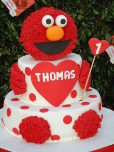 Elmo Cake - how cute is that?!?!